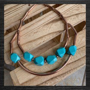 Jewelry - NWT Turquoise Rhodonite Statement Necklace